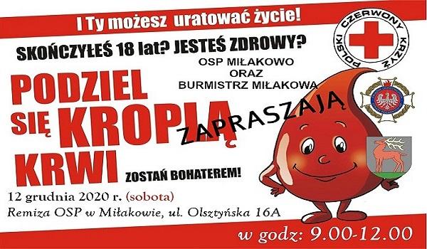 Akcja wMiłakowie 12 grudnia 2020 r.
